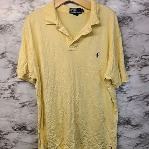 Polo Ralph Lauren Yellow Tshirt Mens L